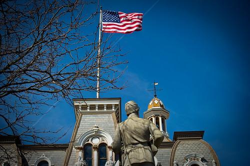 travel ohio history monument architecture geotagged nikon raw nef flag historicpreservation oldglory secondempire cs4 woosterohio nrhp anawesomeshot waynecountyohio d3s nikongp1 ohiotravel acr56 nikkor70200f28vrii