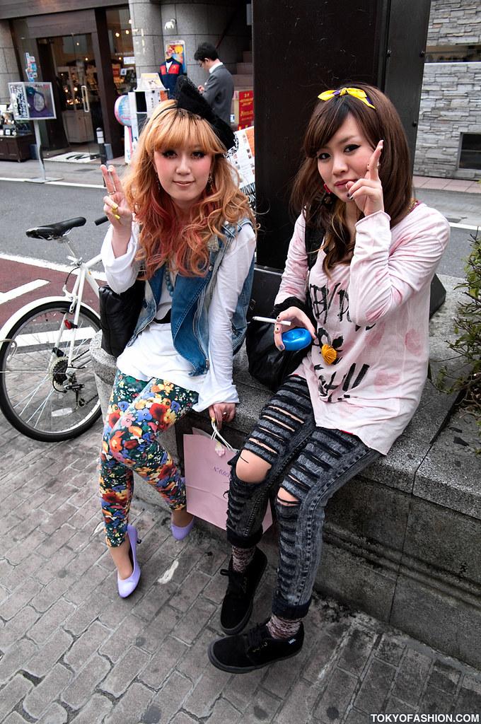 Two Cute Japanese Girls Smoking