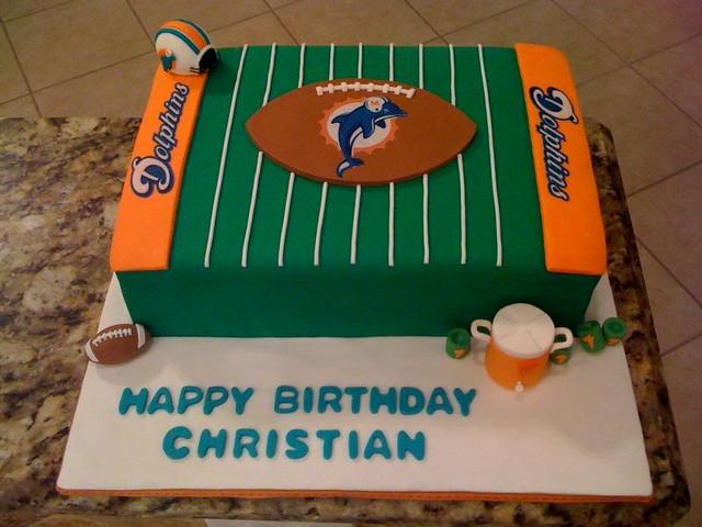 Miami Dolphins cake | cakesbyelisa | Flickr