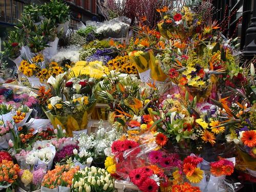 Grafton Street flower stall