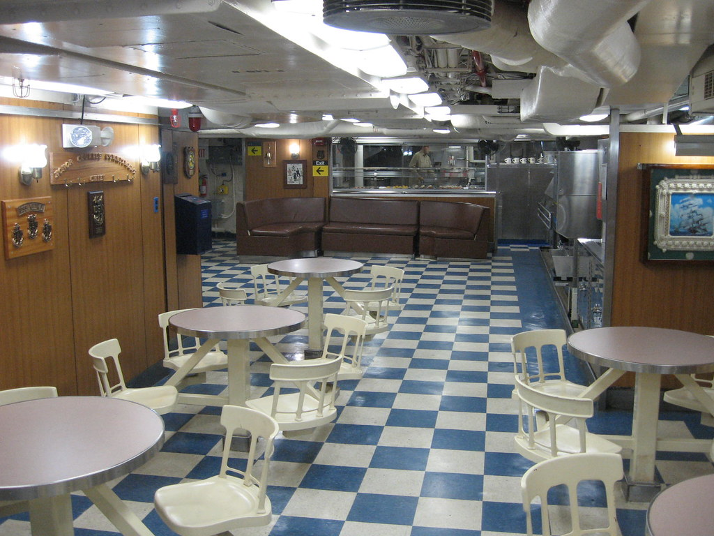 USS MIDWAY - Chief Petty Officers' Mess | Officers were not … | Flickr
