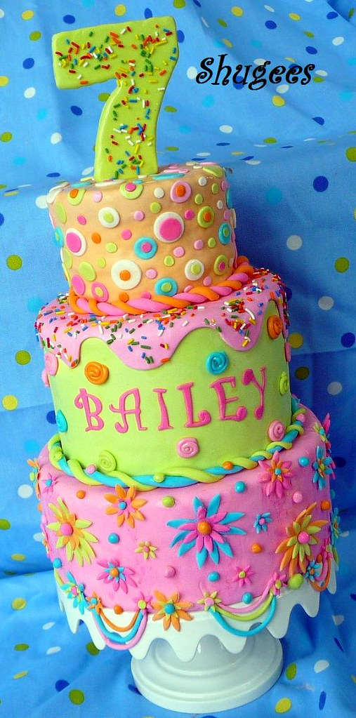 Astounding Funky Birthday Cake Made This For My Soon To Be 7 Yos Pa Personalised Birthday Cards Arneslily Jamesorg