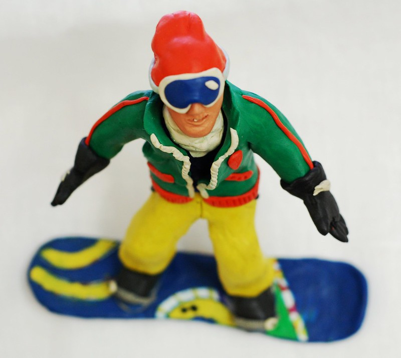 Plasticine snowboarder