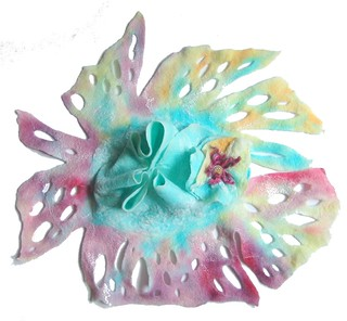 Hand painted felted scarf Pastel | by GalaFilc