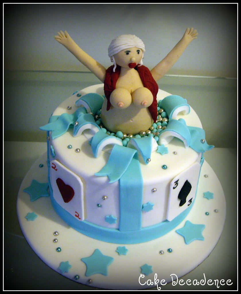 Incredible Stripper Cake The First Of 3 Cakes For This Weekend Whils Flickr Funny Birthday Cards Online Alyptdamsfinfo