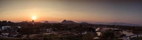 tambonsikham th thailand changwatchiangrai mueangchiangrai sunset sunsets mountain mountains