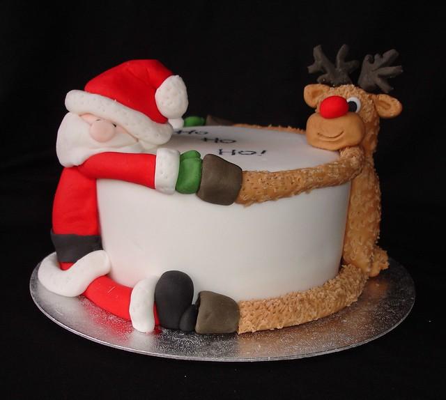 Christmas Santa /Reindeer Cake