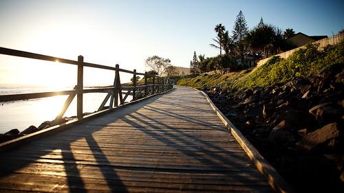 ocean beach sunrise rocks australia nsw boardwalk lennoxhead
