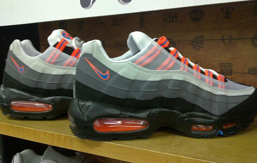 Nike Air Max 95 'Black Neutral Blue Orange Grey' JD S
