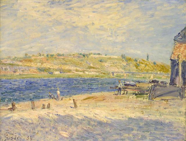 Alfred Sisley: River Banks at Saint-Mammes (1884)