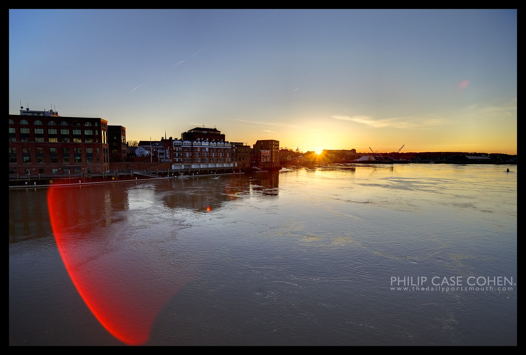 Sunset from the Bridge by Philip Case Cohen