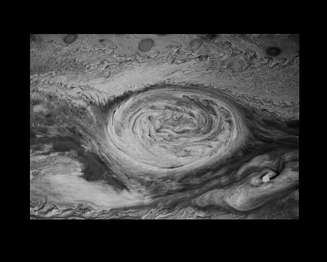 Great Red Spot on Jupiter - mosaic from Galileo spacecraft (non-projection corrected)