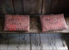 kneel to pray