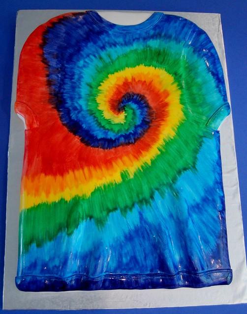 Tie Dye Shirt Cake