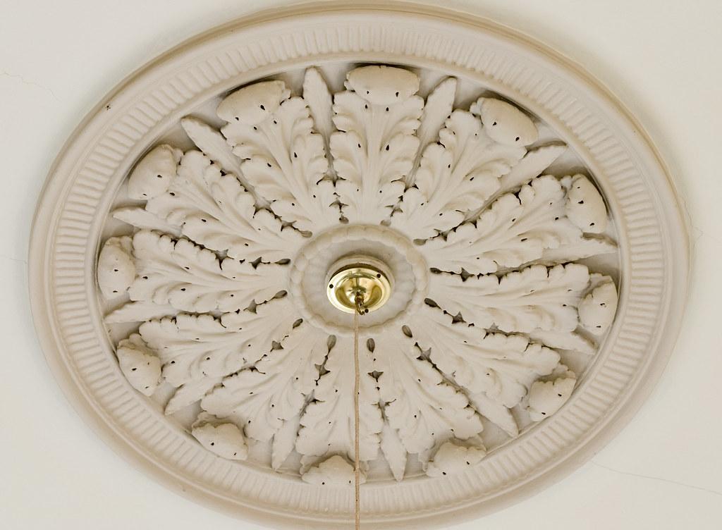 Ornamental Plaster Moulding Ceiling Rose - Brian Eno Speaker Flowers Sound Installation at Marlborough House