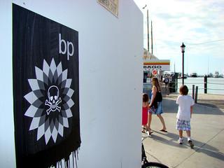 BP Oil Spill graffiti