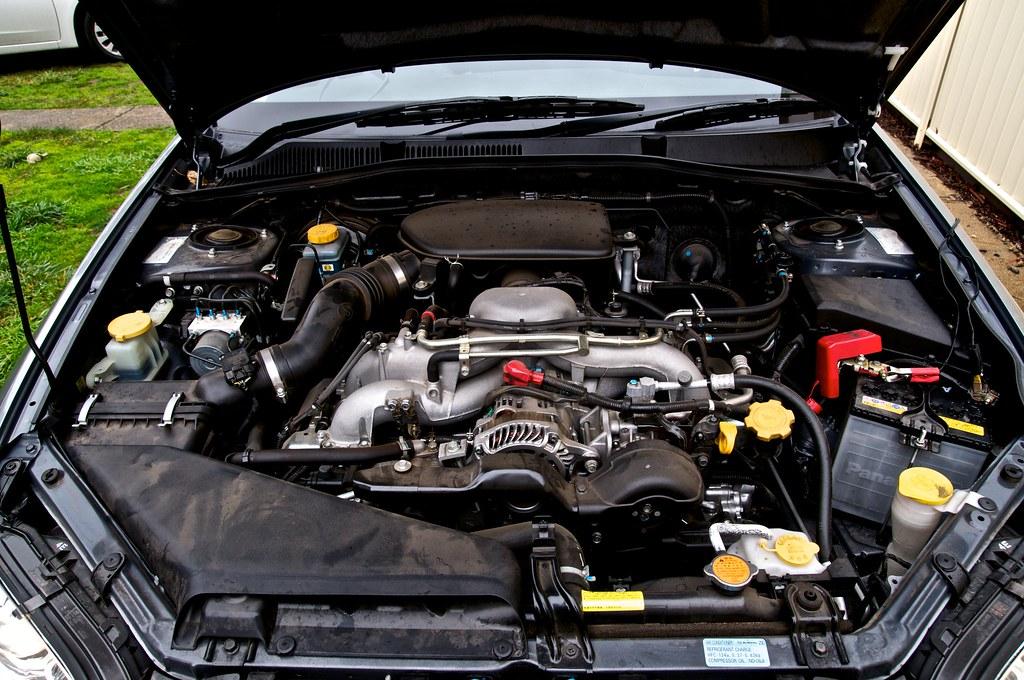 Subaru Liberty EJ25 Engine Bay   View on Black   Visual