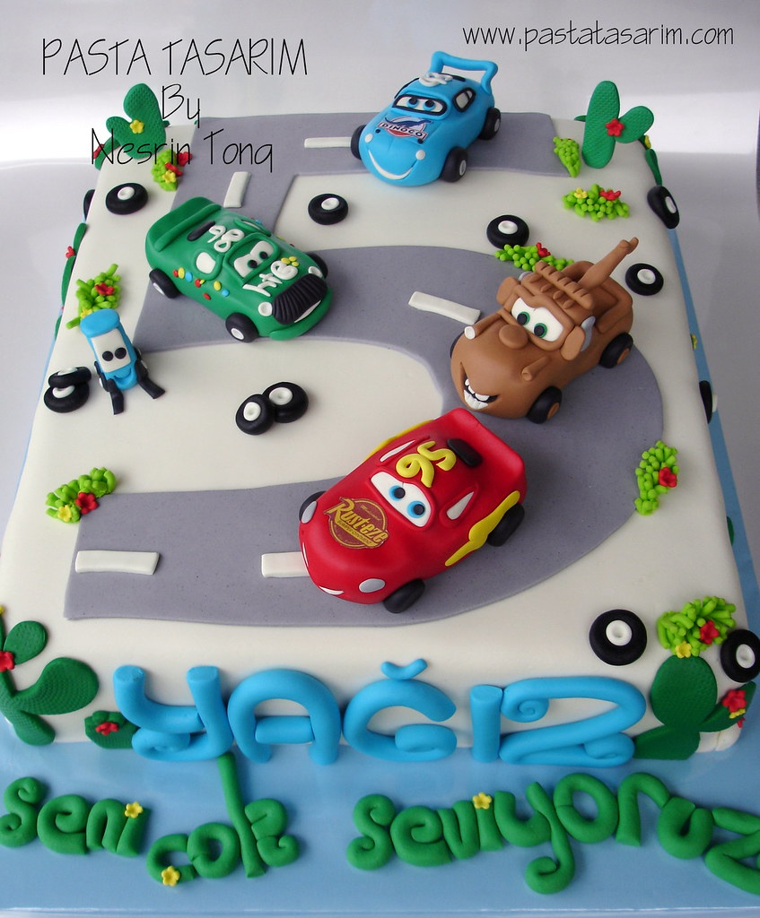 Remarkable Disney Cars Birthday Cake Yagiz Cake By Nesrin Tong Flickr Funny Birthday Cards Online Alyptdamsfinfo