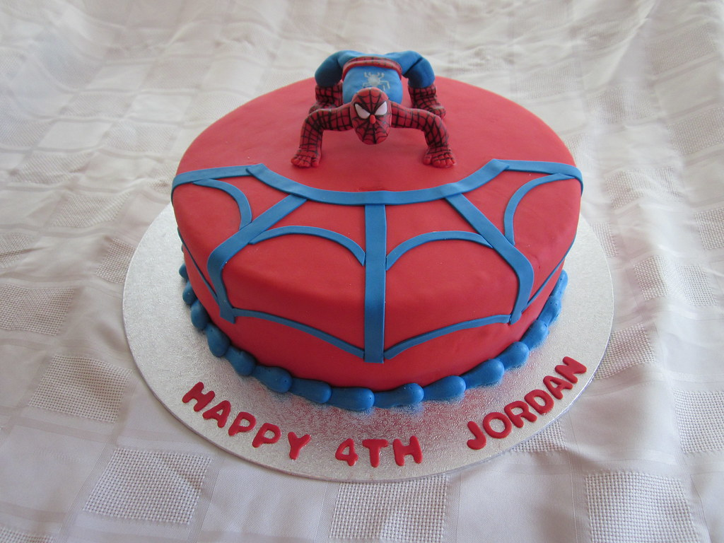 Miraculous Spiderman Birthday Cake Spiderman Birthday Cake Covered In Flickr Funny Birthday Cards Online Aboleapandamsfinfo