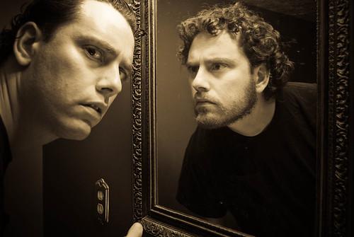 portrait monochrome self nikon d200 365days