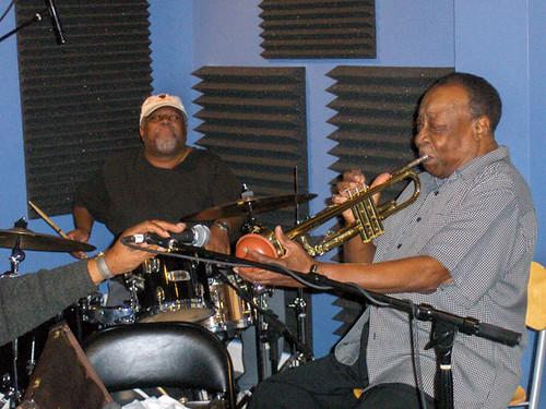 Bunchy Johnson and Dave Bartholomew at WWOZ, 2009
