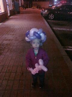 Ballon hats are fun!   by pixxels