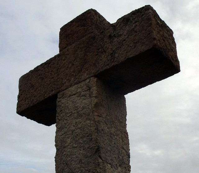 Hill of Three Crosses, Parc Guell, Barcelona, Catalunha.