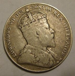 NEWFOUNDLAND, EDWARD VII 1908 ---50 CENTS b