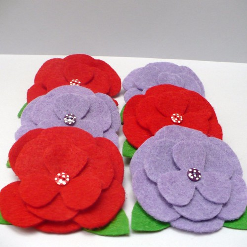 Flower Brooches | by titchables