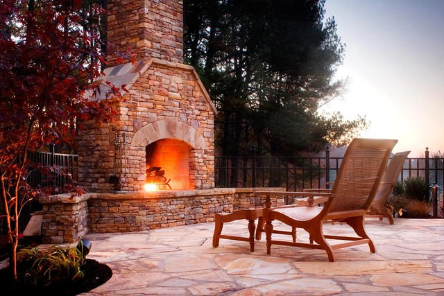 Dacula Stone Fireplace