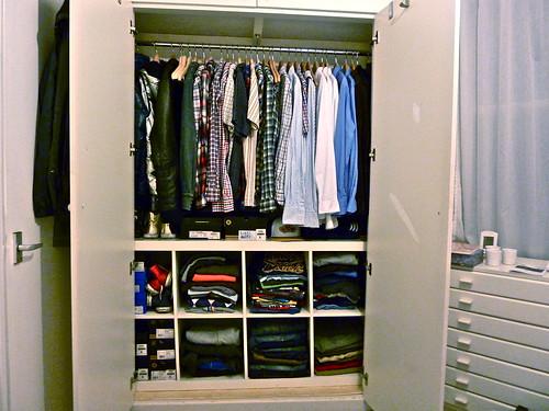 Nya garderoben