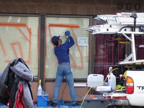 Graffiti off of windows | by jwmadmax