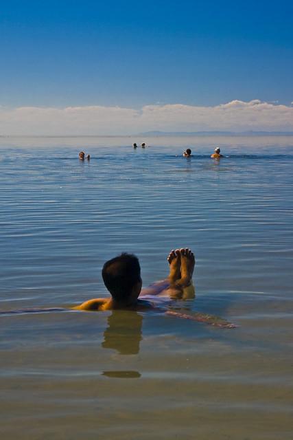 Floating in Great Salt Lake