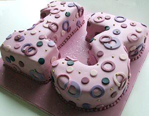 Number 13 Birthday Cake