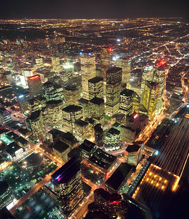 Toronto: downtown at night from the CN Tower | by The City of Toronto