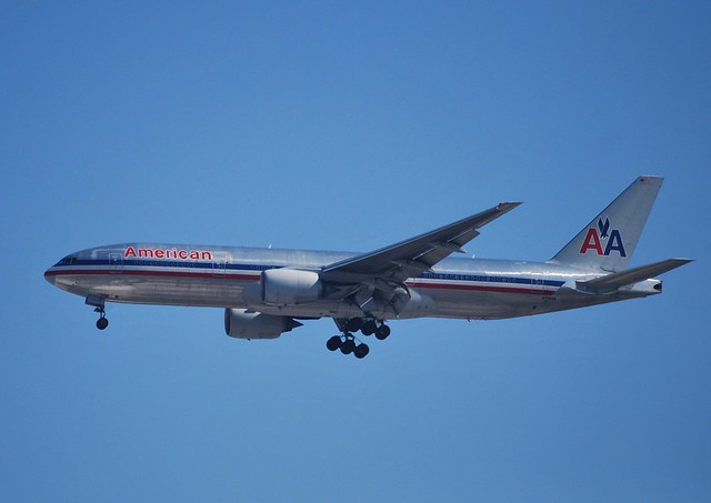 American Airlines Boeing 777 (N758AN) arrival at LAX