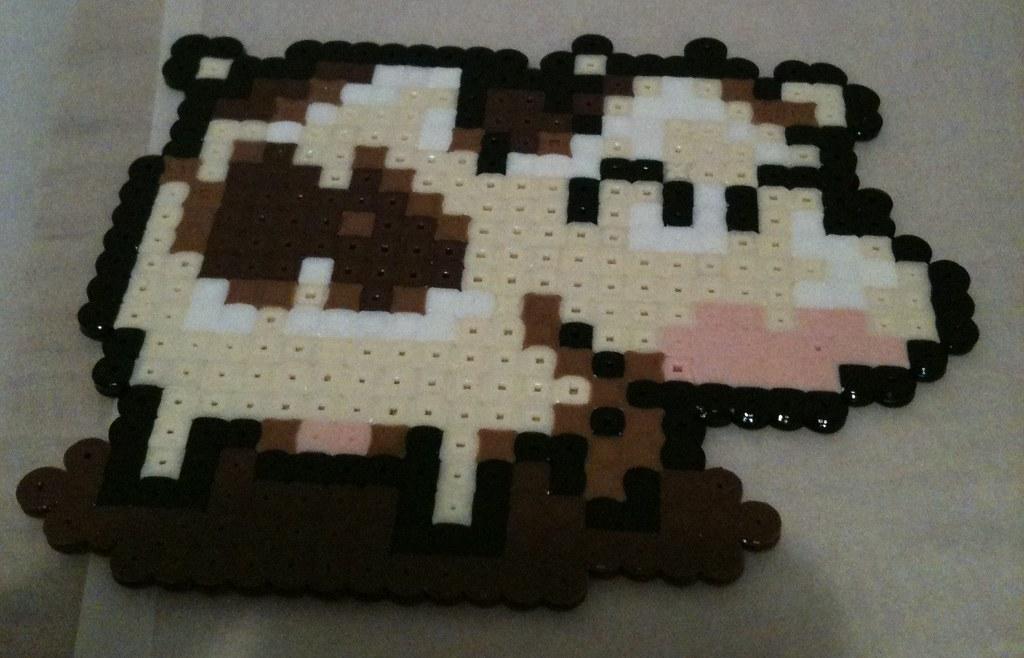 Bead Sprite - Harvest Moon cow | Harvest Moon cow bead sprit