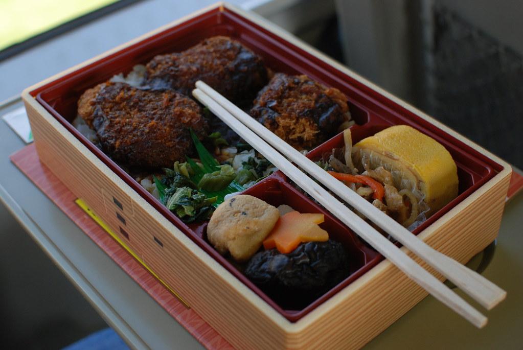 Bento en el trayecto Hiroshima - Takayama