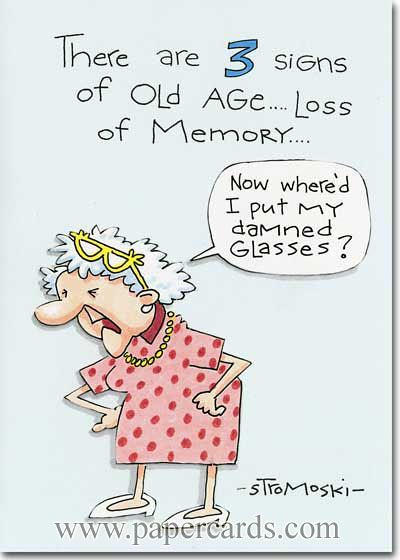 Old Lady Birthday Cards