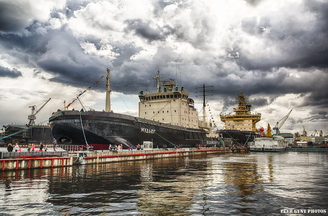 Icebreaker Parade. Saint-Petersburg