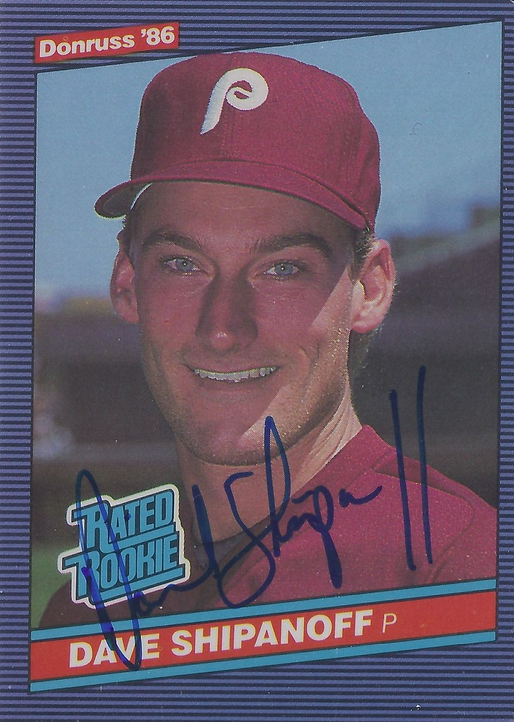 1986 Donruss Dave Shipanoff 34 Pitcher Autographed Flickr