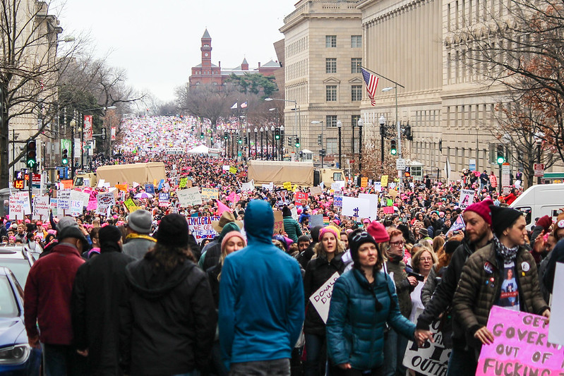 Women's March crowds on 14th St