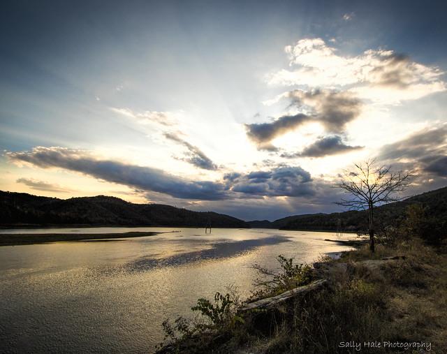 Setting Sun at Fontana Lake- EXPLORED