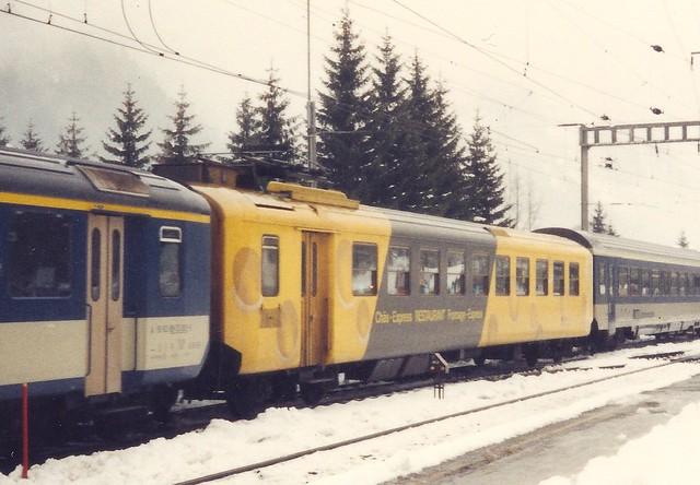 """BLS0048a Zoom auf Speisewagen """"Chäs-Express""""     (1 von 2)"""