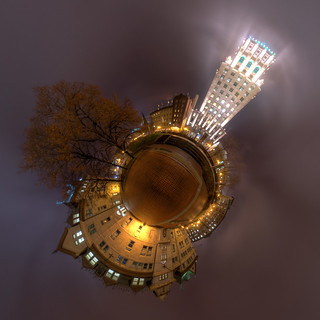 Priceonoid - Price Building and Quebec City Hall Planetoid in Old Quebec City [Explored] | by haban hero