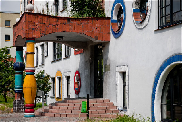 Luther Melanchton Gymnasium in Wittenberg by Hundertwasser 18