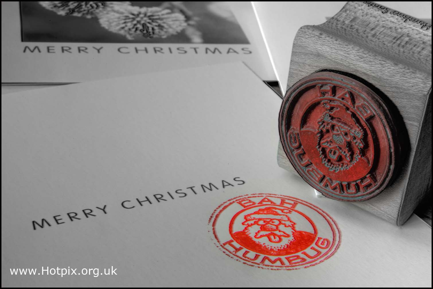 bah,humbug,bahhumbug,bahumbug,stamp,rubber,rubberstamp,red,BW,black,white,monochrome,christmas,xmas,card,cards,december,last,post,office,collection,second,first,class,2nd,1st,postal,royal,mail,ihatexmas,ihatechristmas,hate,crimbo,mono,partial,mixed,color,selctive,colour,colores,stillife,stilllife,still,life,hotpix!