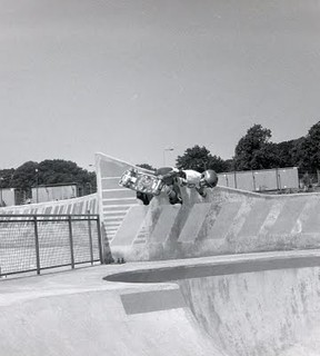 Steve Cab backside air scotland 1982