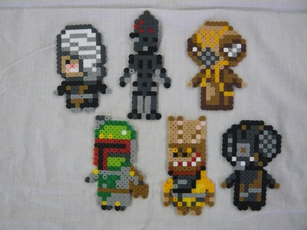 Star Wars Bounty Hunters Perler Bead Sprites While Luke Wa Flickr