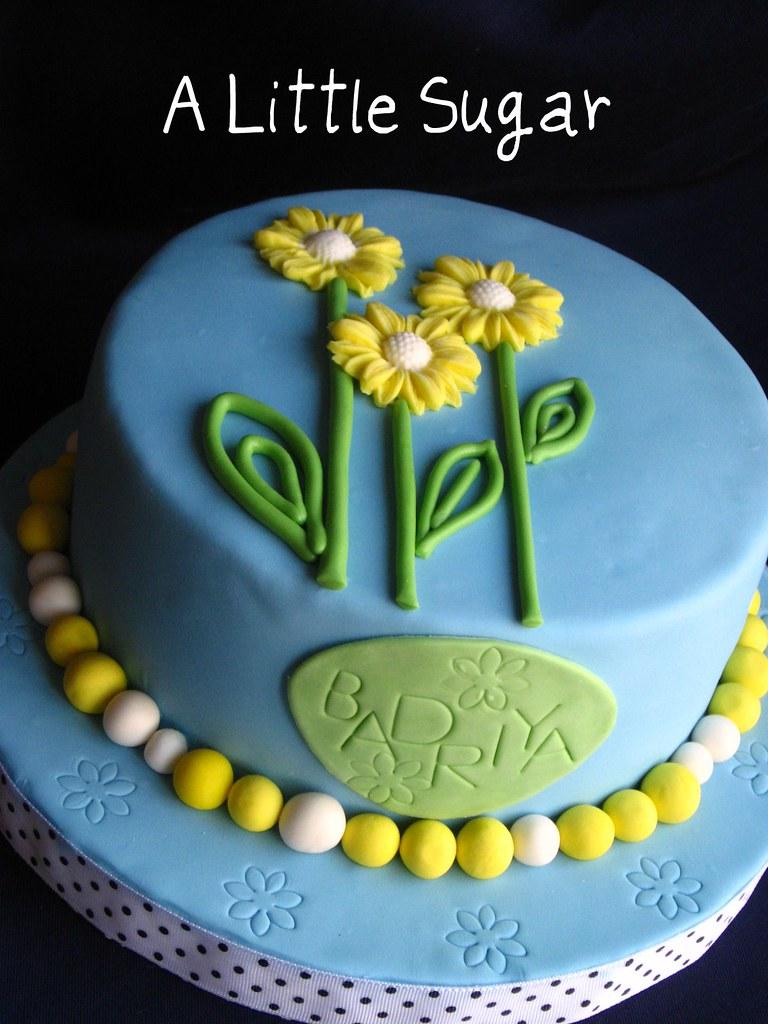 Prime Daisy Cake A Very Last Minute Birthday Cake I Used My New Flickr Funny Birthday Cards Online Alyptdamsfinfo